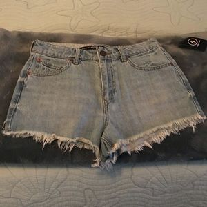 Volcom Mid-Rise Denim Shorts NWT